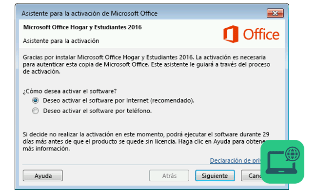 activar office por internet