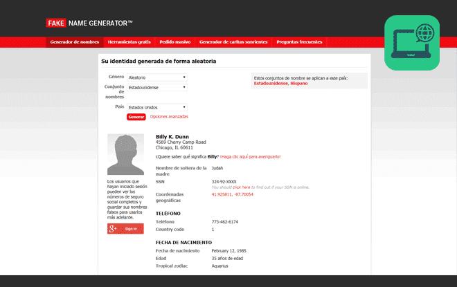 fake name generator web