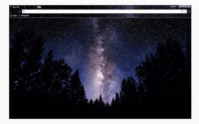 tema galaxia chrome