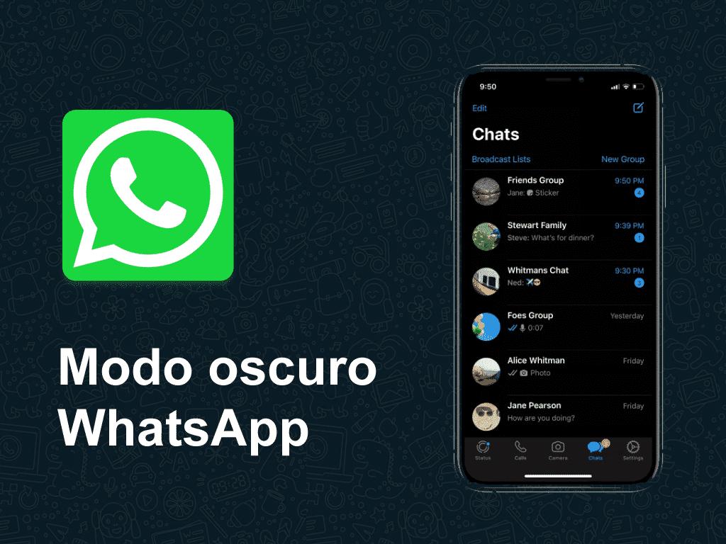 activar modo oscuro whatsapp