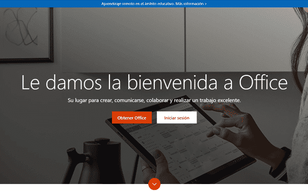 Web oficial office 2016
