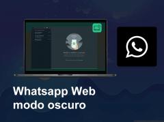 modo oscuro whatsapp web