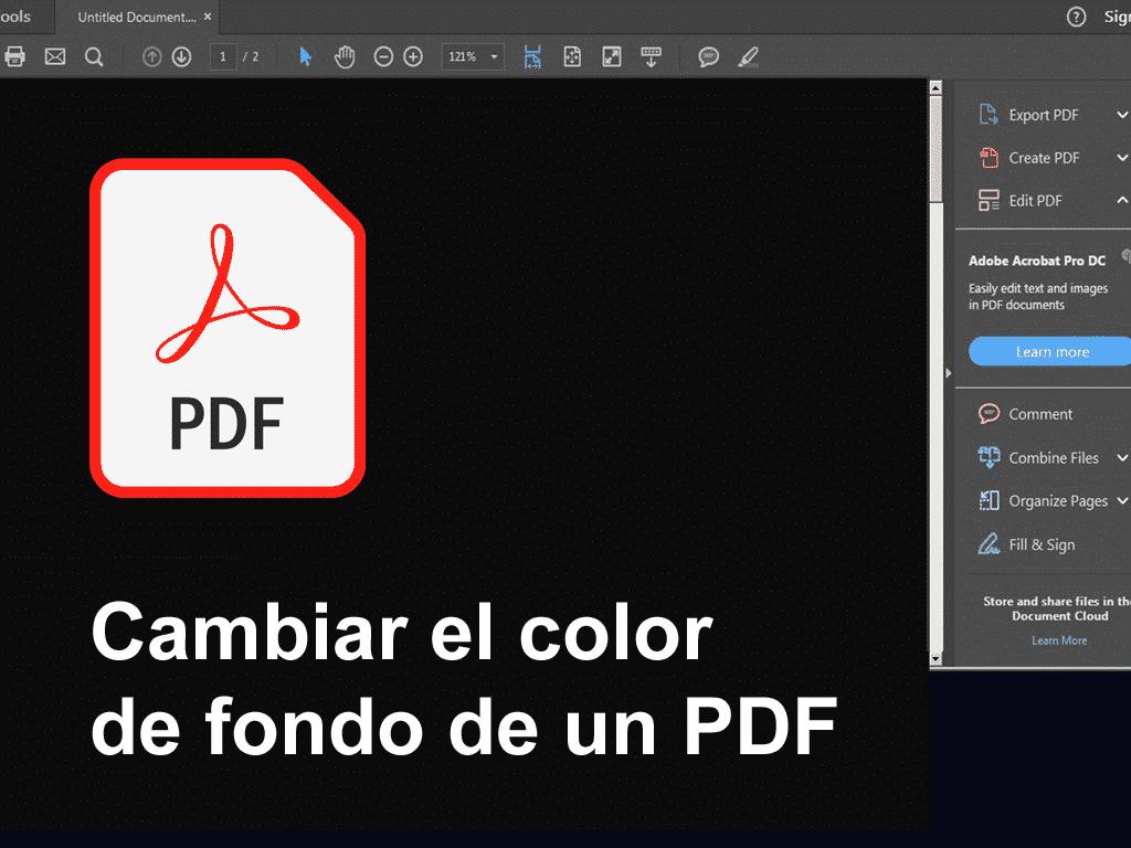 modo oscuro pdf color de fondo