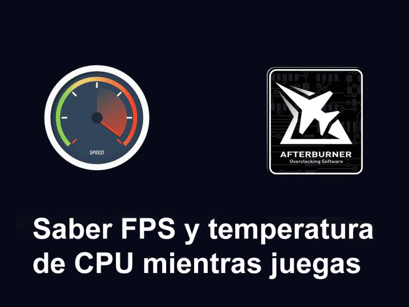 kender cpu -temperatur og fps, mens du spiller spil