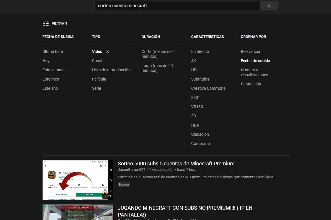 sorteo cuenta minecraft premium