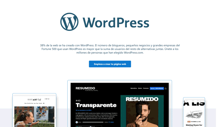 crear pagina web con wordpress