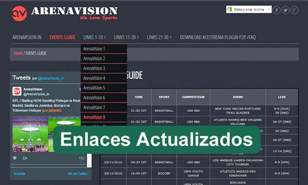 enlaces arenavision