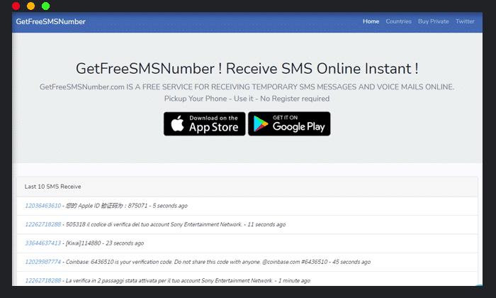 GetGreeSMSNumber Número virtual