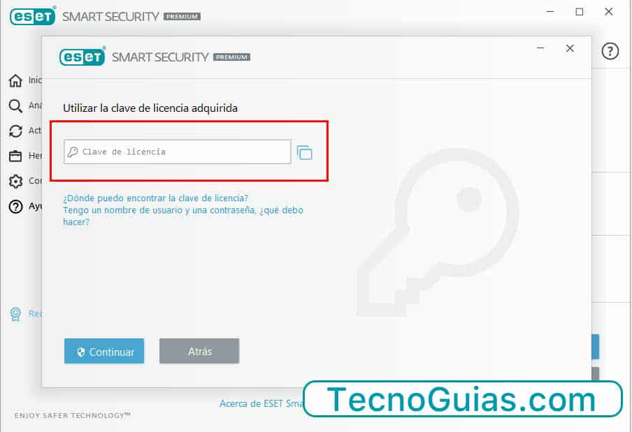 activar licencia eset nod32 smart security