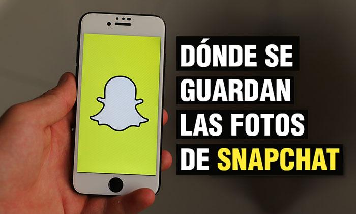 Dónde se guardan las fotos de Snapchat