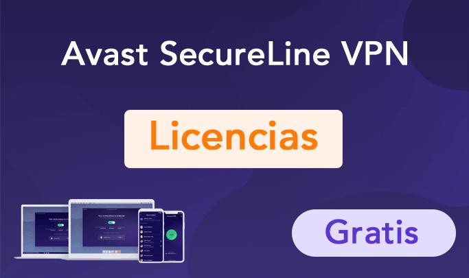 licencias avast secureline vpn gratis