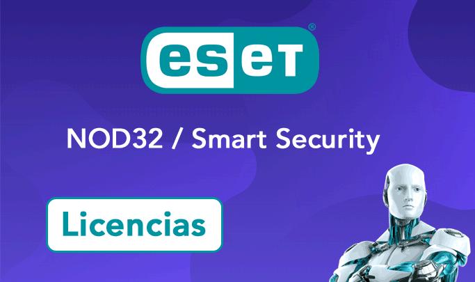 licencias eset nod32 smart security