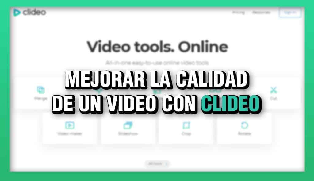 migliora la qualità di un video con clideo