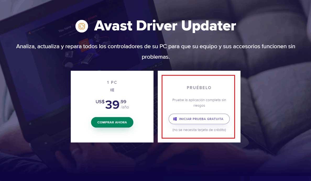 prueba gratis avast driver updater