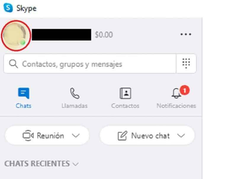 poner fondo en Skype
