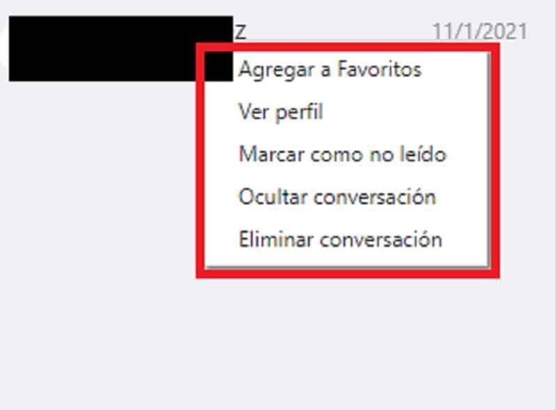 opciones de contacto skype