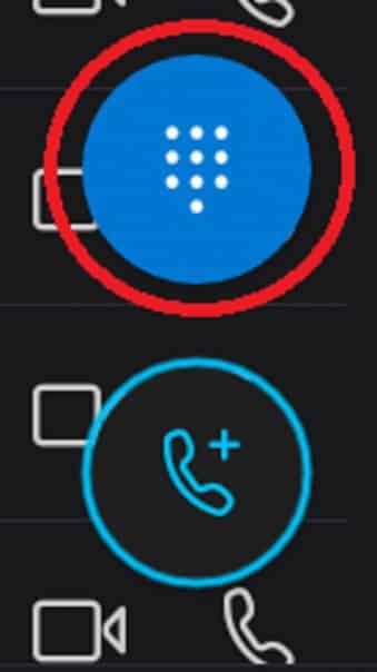 marcar numero skype
