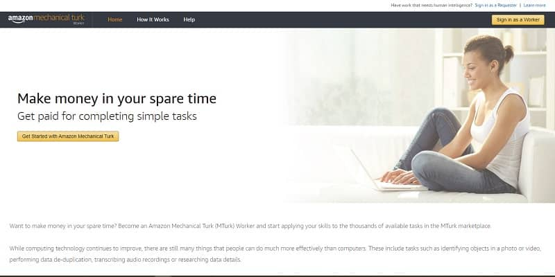 Amazon Mechanical Turk Worker