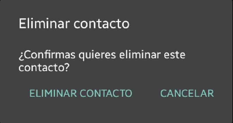 eliminar contactos skype android