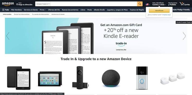 tarjetas regalo amazon trade in