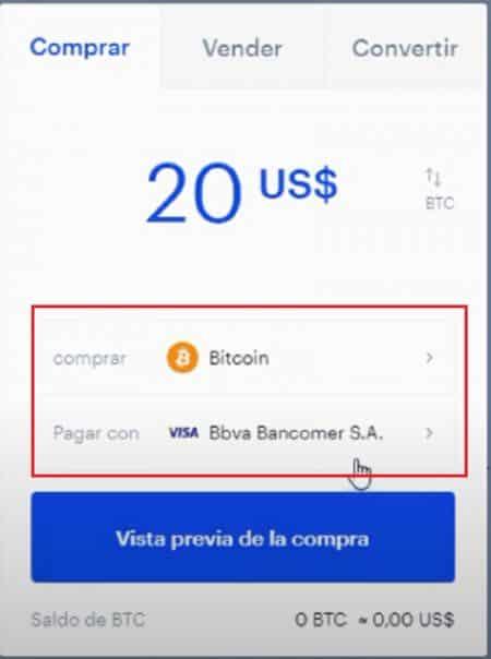 métodos de pago para comprar en Coinbase