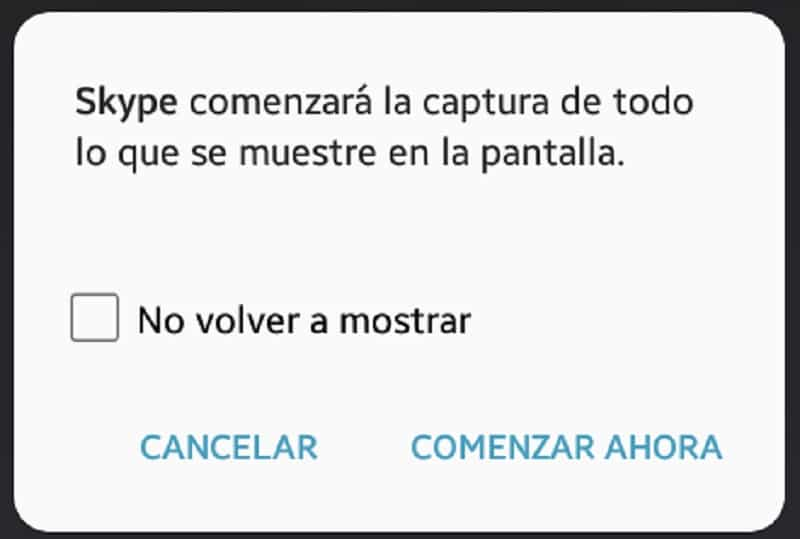 compartir pantalla skype