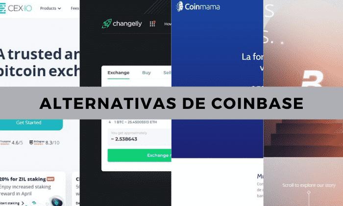 páginas como Coinbase