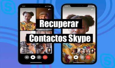 Recuperar contactos skype