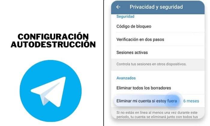 borrar cuenta telegram configuracion autodestrucción