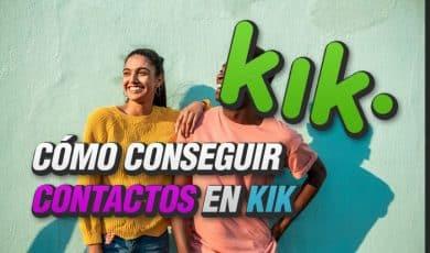 como conseguir contactos en kik