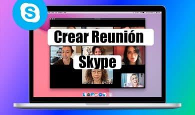 crear reunion skype