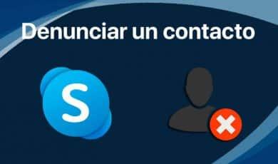denunciar contacto skype