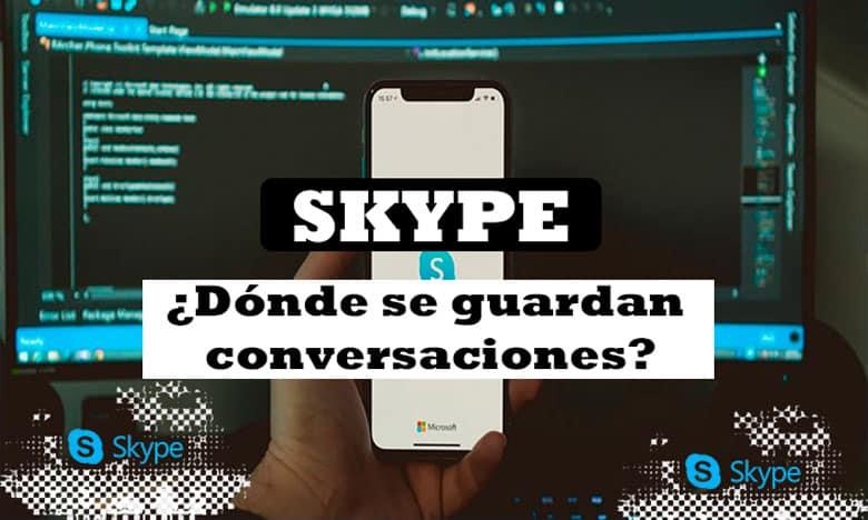 donde guardan conversaciones skype