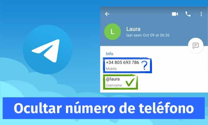 ocultar numero teléfono telegram