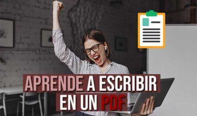 Como escribir en un PDF