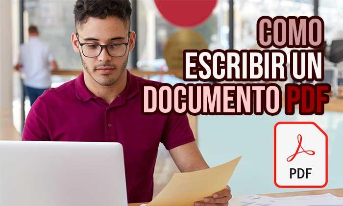 escribir documento pdf