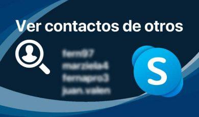 saber contactos skype de otra persona