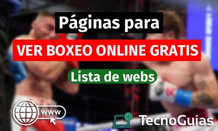 paginas para ver boxeo gratis