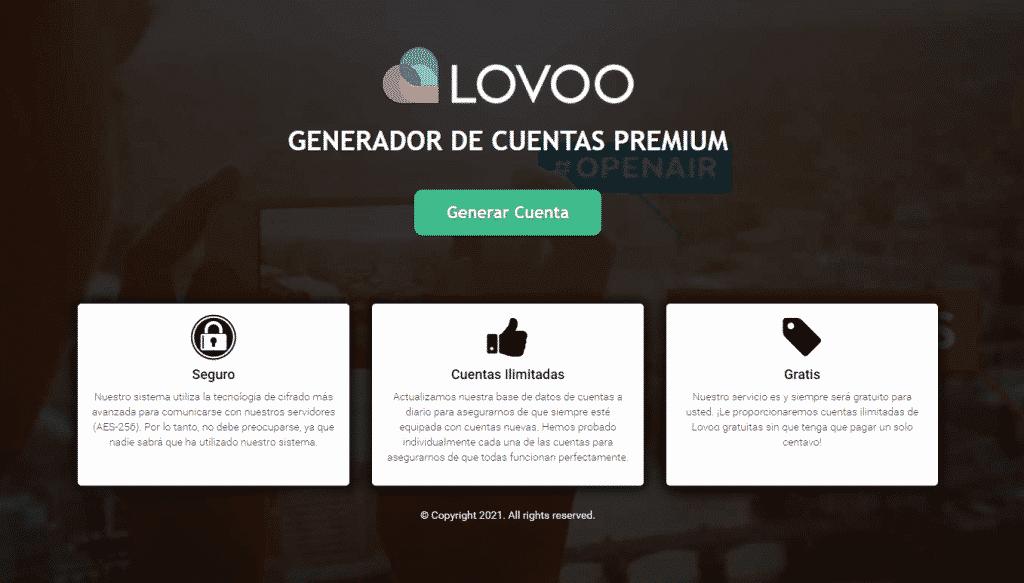 generador cuentas lovoo premium gratis