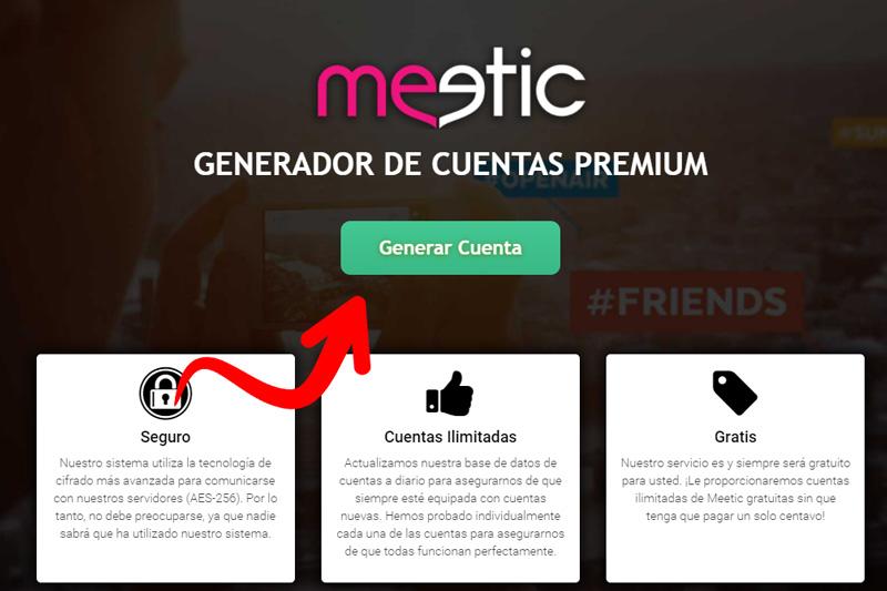 generador cuentas meetic premium gratis