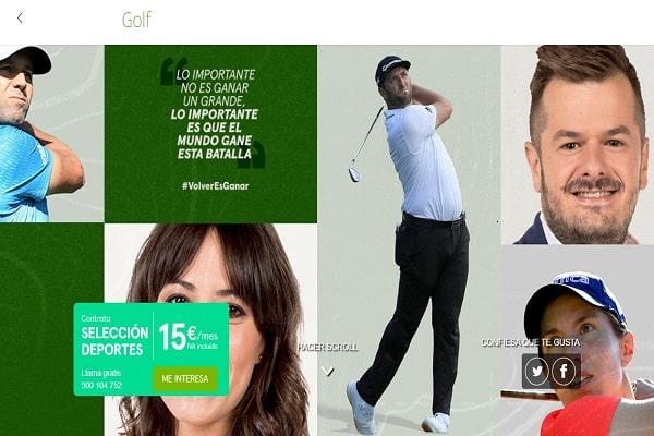 movistar golf gratis