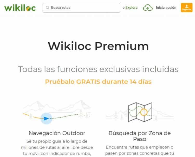 wikiloc gratis prueba 14 dias