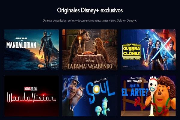 Disney Plus katalog