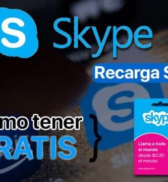 Recargar saldo en Skype Gratis