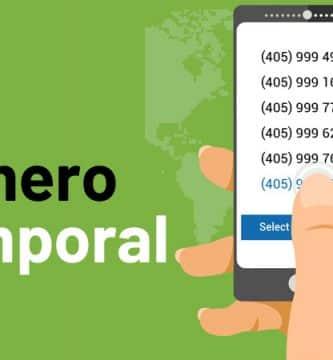 número de teléfono temporal